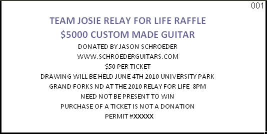 Sample Raffle Ticket